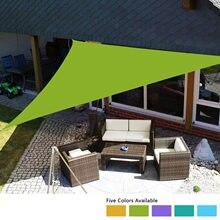 Triangle Anti-UV soleil ombre voile parasol auvent avec corde sac extérieur Patio jardin piscine Portable auvent couverture supérieure 4x4x4m