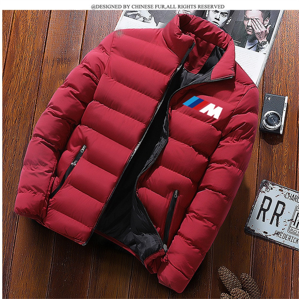 Новинка 2022, зимняя куртка, Мужская мода, куртка с воротником-стойкой, Паркера, Мужская стеганая куртка на молнии, мужская зимняя куртка