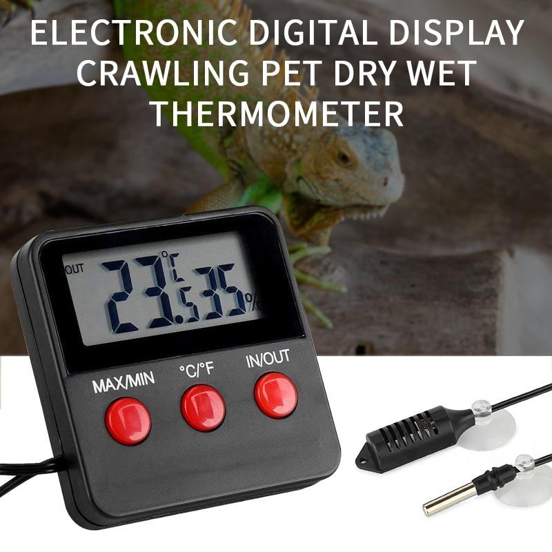 Electronic Thermometer Hygrometer Digital LCD Display Temp Humidity Monitor Meter For Egg Incubator Reptile Tanks