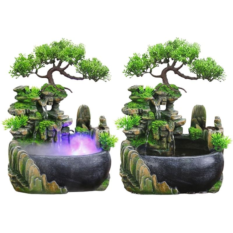 العملي الإبداعية داخلي محاكاة الراتنج الصخور شلال تمثال فنغ شوي نافورة الماء حديقة المنزل الحرف-الولايات المتحدة التوصيل