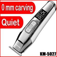 Afiação máquina de corte 0.0mm keimei corte cabelo recarregável clipper kmei kemel cordles kmei pro trimer elétrico kemey