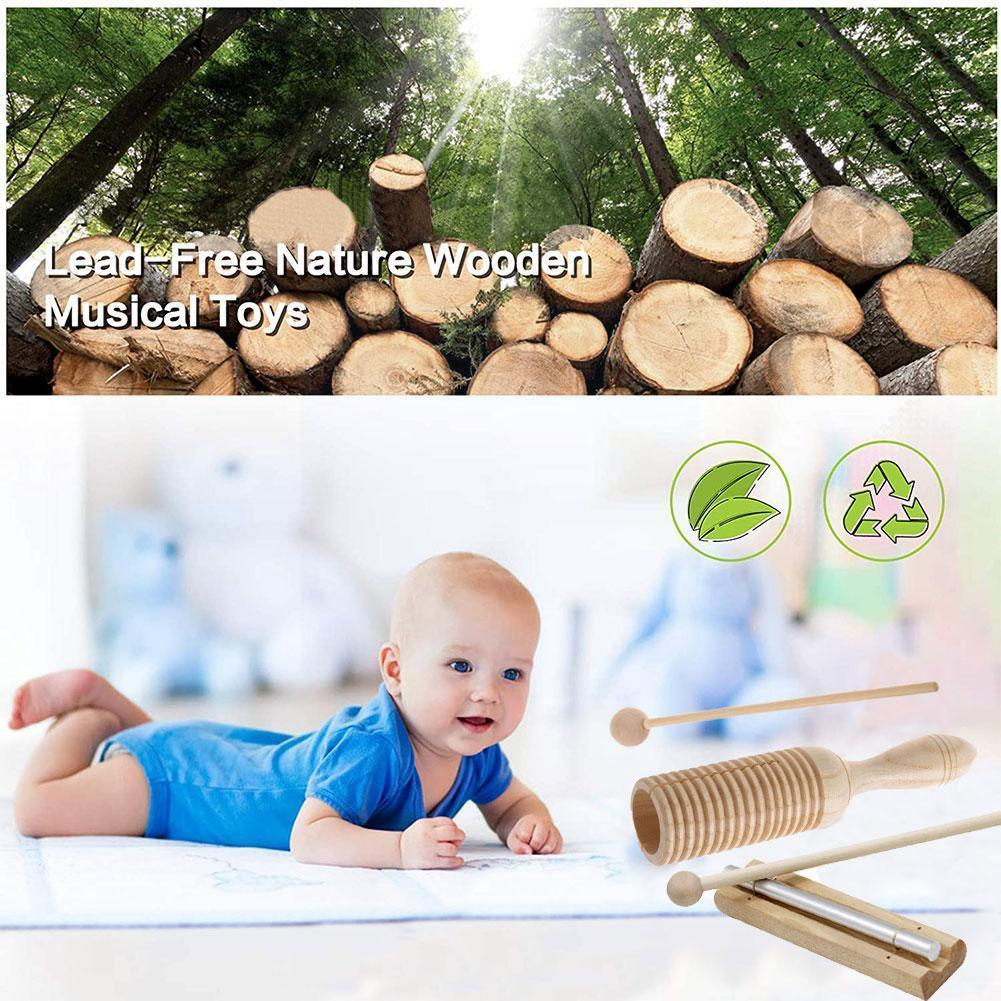 Wood Wind Chime Percussion Instrument Kid Children Children Musical Toy Bell Musical Develop Sense Percussion Instrument I8h8