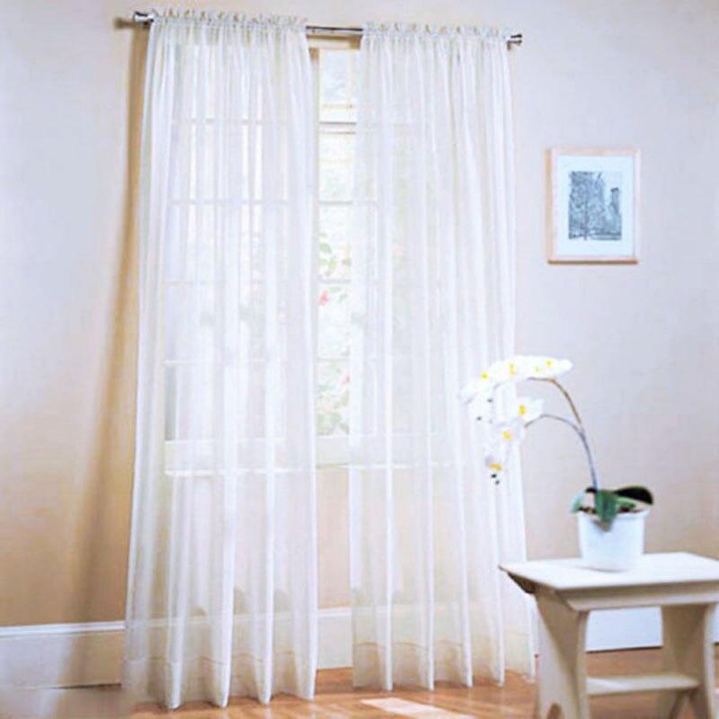 1 ud. Cortina cortina Floral vidrio Voile tul para ventana cuarto de baño Colo puro ducha divisor