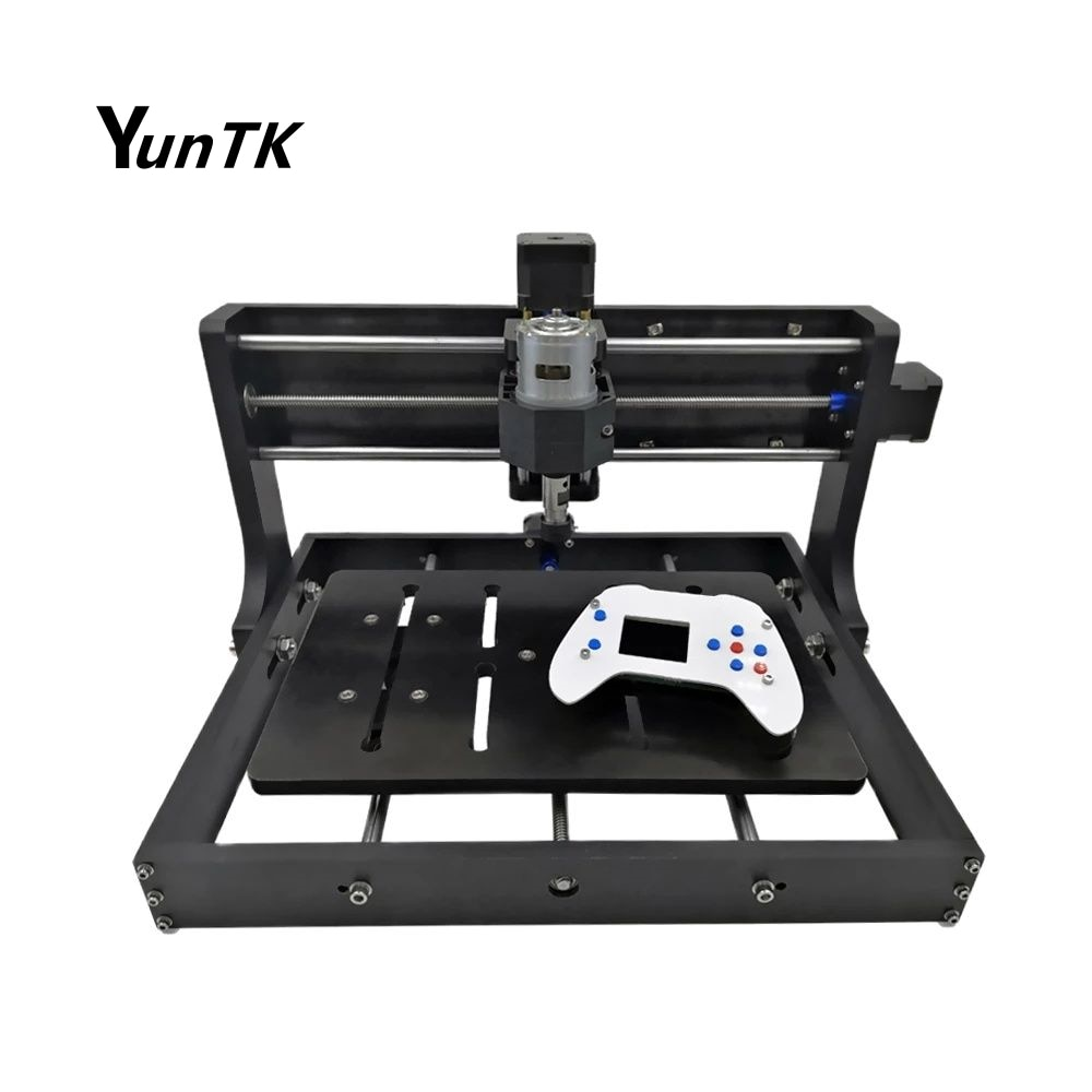 1500w wood router 4 axis cnc 8060 pcb milling machine cnc engraver with cutter bit 3020 CNC Offline Laser Wood Engraver DIY CNC Milling Router Machine Pcb Wood Router Controller GRBL, Craved in Metal