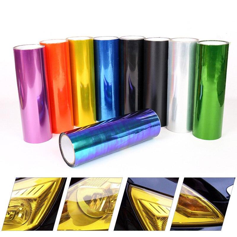 """30x50cm 12 """"x 20"""" Luz de coche tinte vinilo película pegatina faro luz trasera coche decoración color cambiar la luz 12 colores"""