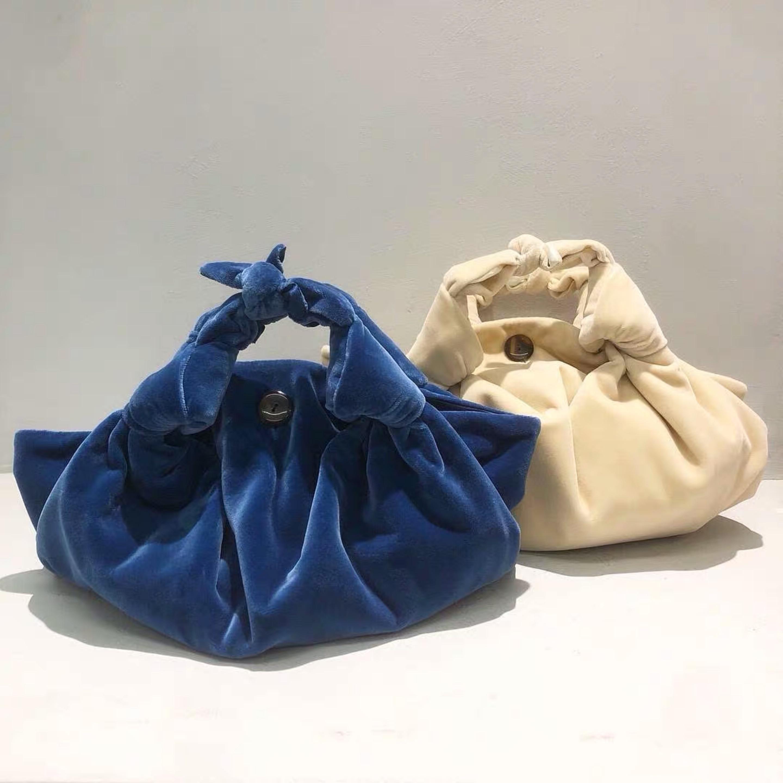 موضة جديدة الخريف والشتاء المرأة مصمم حقيبة يد سيدة الطرف مخلب عالية الجودة العلامة التجارية المخملية حقيبة المحافظ وحقائب اليد