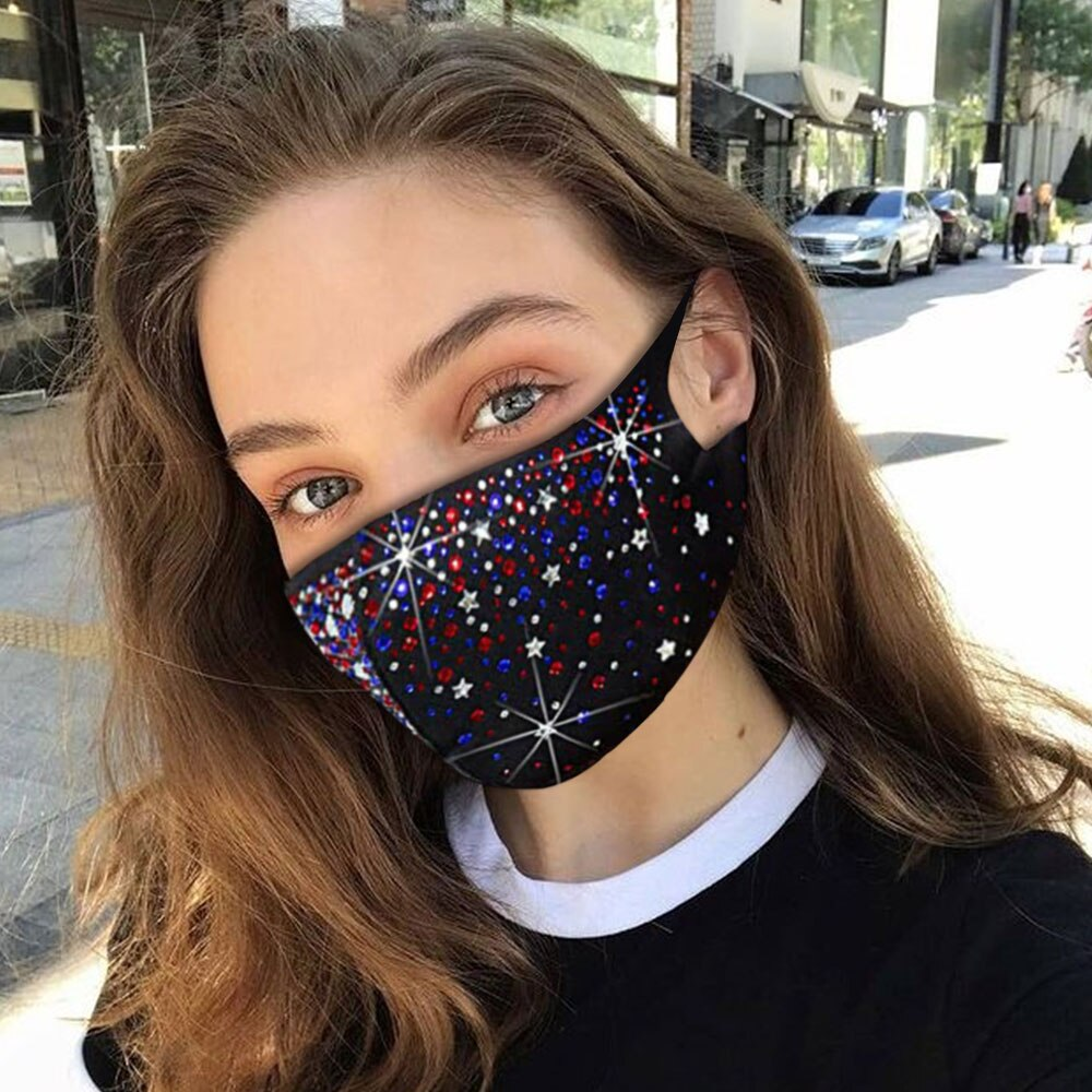 Shiny Rhinestone Decoration Jewelry Mask Crystal Face Cover Jewelry For Unisex Simple Sexy Nightclub Party Face Accessory Gift