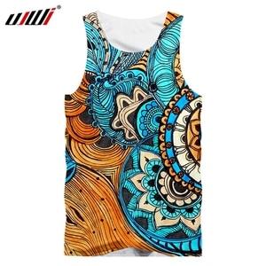 UJWI  Summer Factory Direct Supply Original Sample Design 3D Colorful Totem Print Tank Top Oversized Vest Wholesale Dropship 5XL
