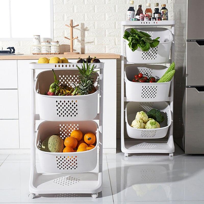 سلال فواكه متعددة الطبقات ، منظم تخزين طعام المطبخ ، منظم غرفة قابل للإزالة ، إكسسوارات منزلية