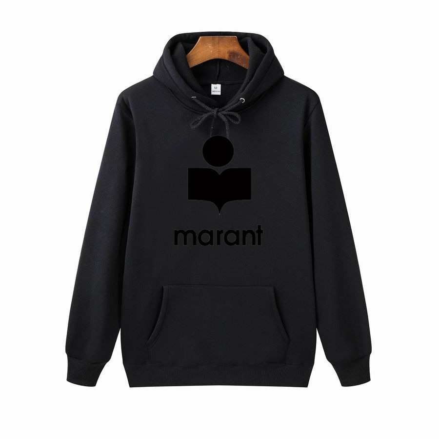 New Men's and Women's Marant Fashion Letter Fleece Printing Personalized Leisure Long Sleeve Sweater Fashion Hoodie Men Hoodies