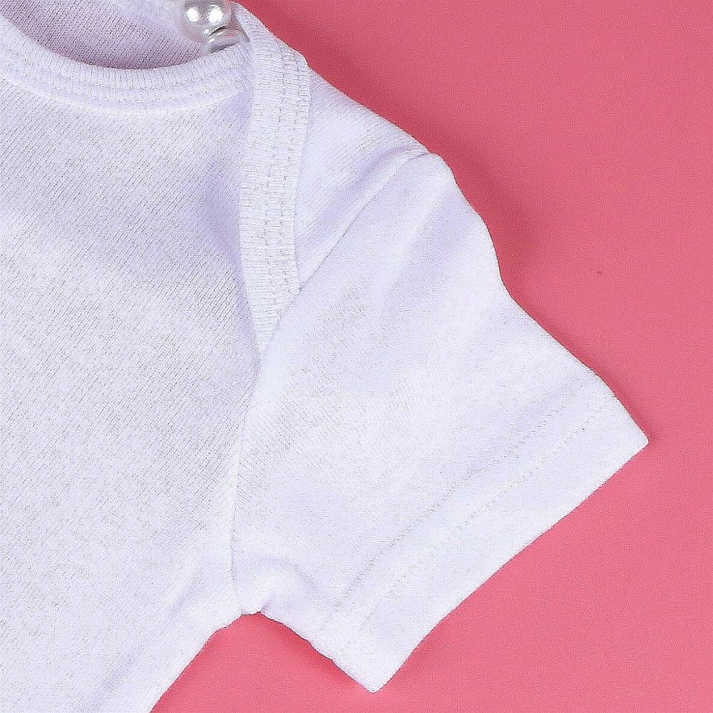 Купить с кэшбэком Summer Newborn Baby Boys Girls Clothes Crown Knot White Cotton Bodysuit Infant Baby Short Sleeve Vest Jumpsuit Pajamas Outfit