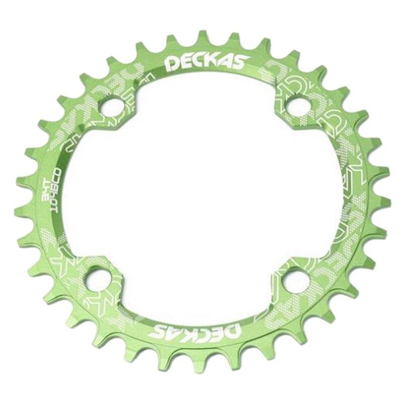 Deckas круглая узкая ширина Звездочка горный велосипед 104Bcd 32T кривошипная Шестерня части 104 Bcd зеленый