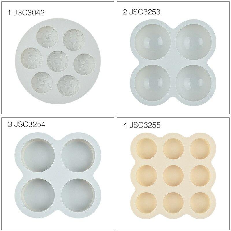 Moldes circulares para hornear, molde redondo de silicona para pasteles, moldes de silicona para jabón, utensilios de cocina, moldes de Chocolate 3d de plástico