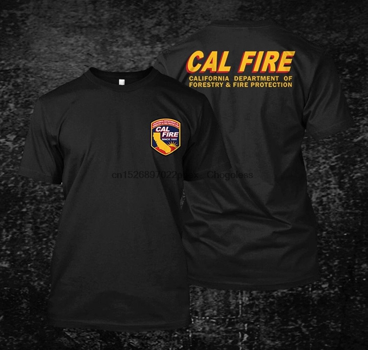 Camiseta masculina de manga curta cal fire california