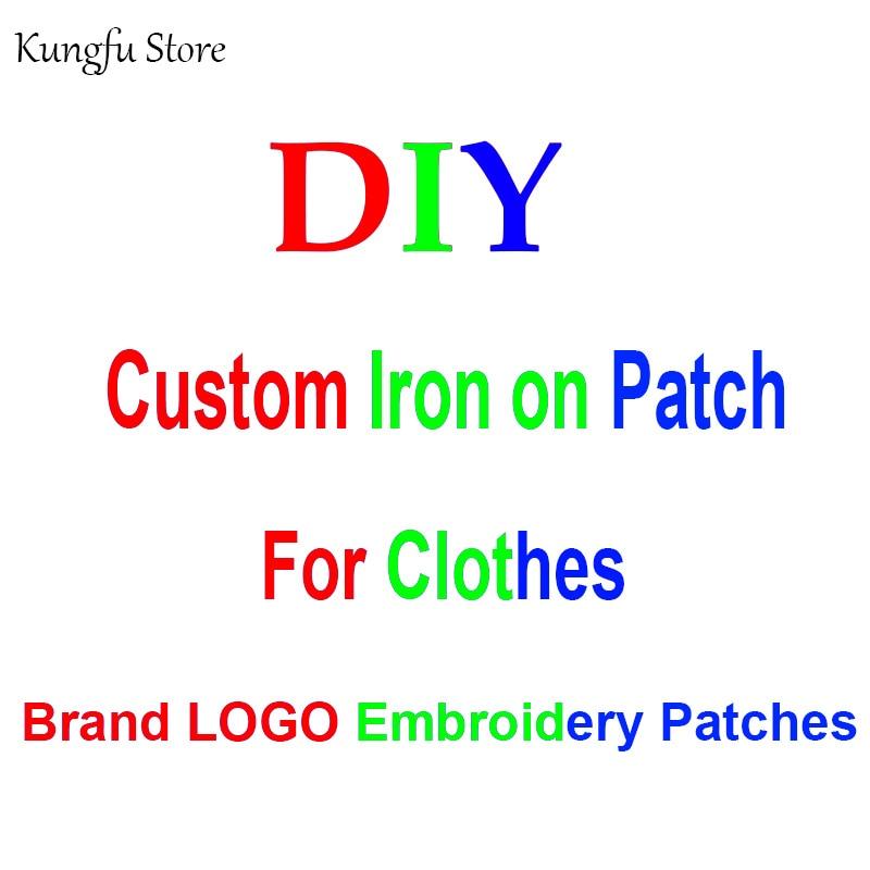 Fer personnalisé sur les patchs brodés pour les patchs de LOGO de marque de vêtements sur les vêtements