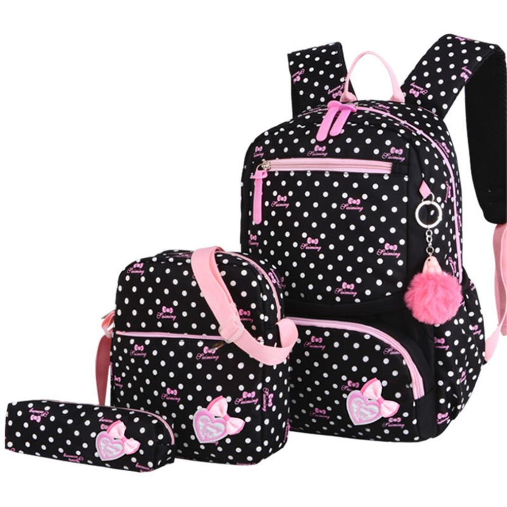 3 قطعة/المجموعة الطباعة حقيبة مدرسية s الظهر المدرسية أزياء الاطفال جميل على ظهره للأطفال حقيبة مدرسية للبنات حقيبة مدرسية طالب Mochila الكيس