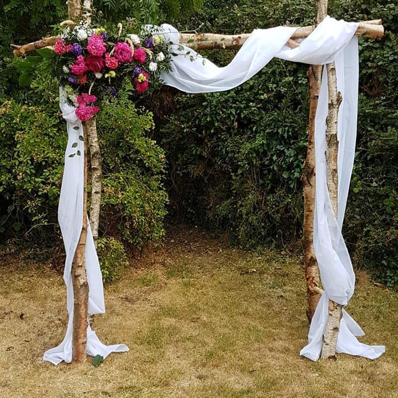 47 color sólido tela terylene boda arco tela vaporosa gasa arbor cortinas para al aire libre de la boda ceremonia cortinas para fiestas