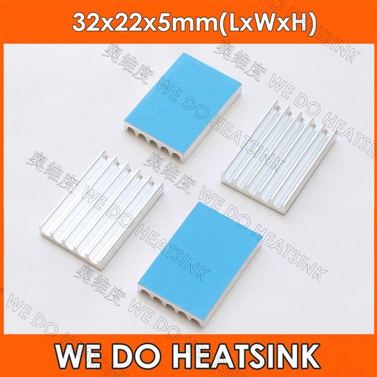 1 Uds 32*22*5mm disipador de calor cinturón 8810 calor conductivo papel adhesivo chip mos tubo