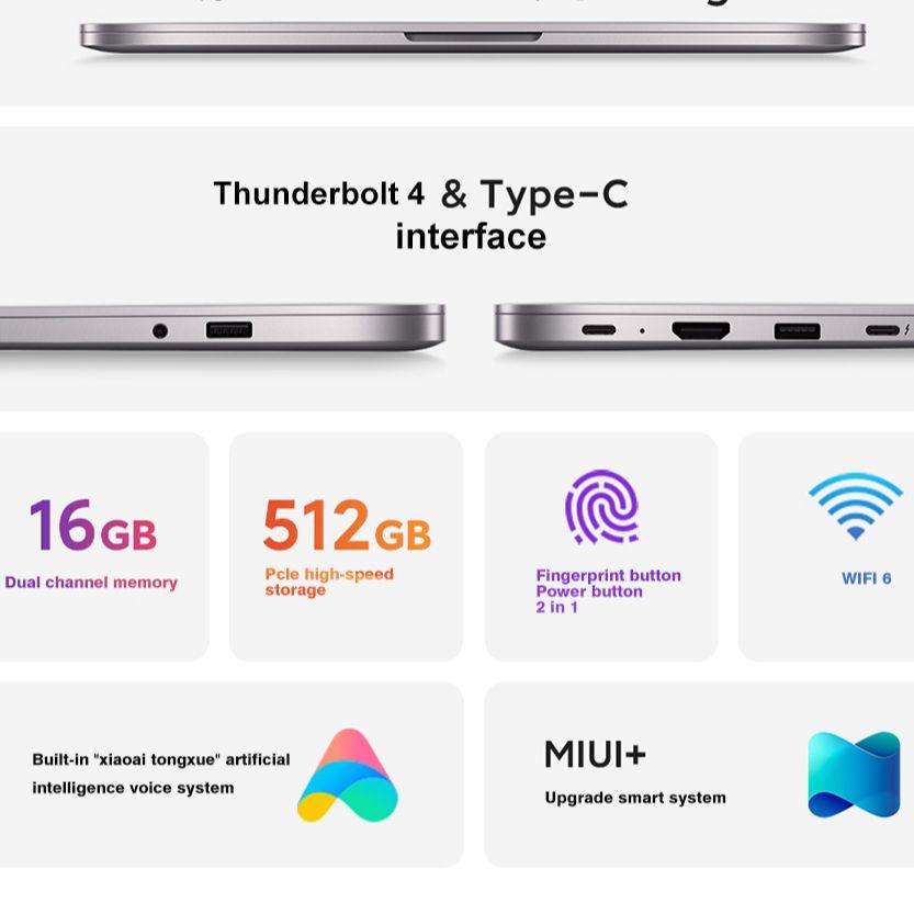 New Xiaomi RedmiBook Laptop Pro 15 Enhanced Edition 15.6Inch i7-11390H / i5-11320H 16GB+512GB 90Hz 3.2K Screen MX450 Notebook