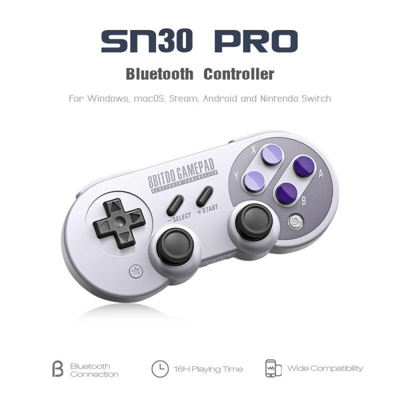 SF30Pro/SN30pro controlador de juego inalámbrico Bluetooth con Joystick para Windows Android macOS vapor Nintendo Switch