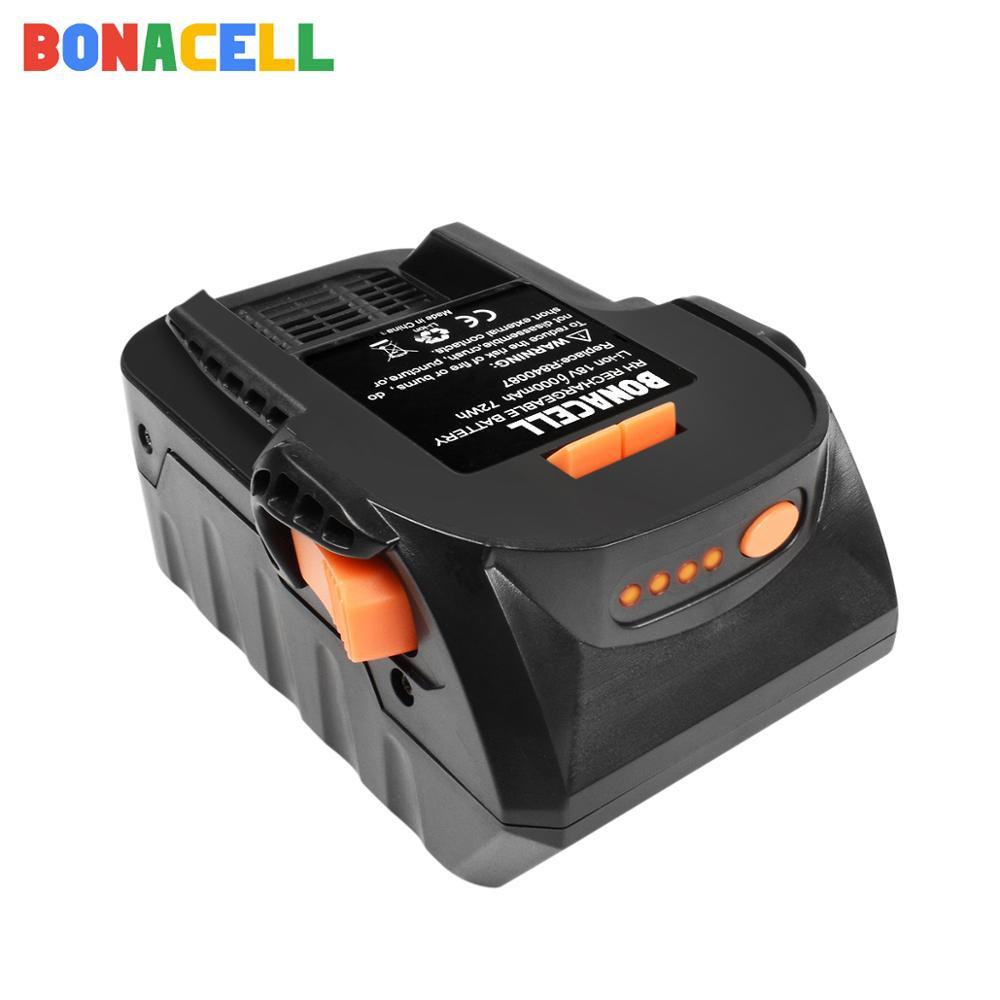 BONACELL 1PACK 6.0Ah 18V Li-ion For RIDGID R840083 R840085 R840086 R840087 Rechargeable Power Tool Battery Series AEG Series