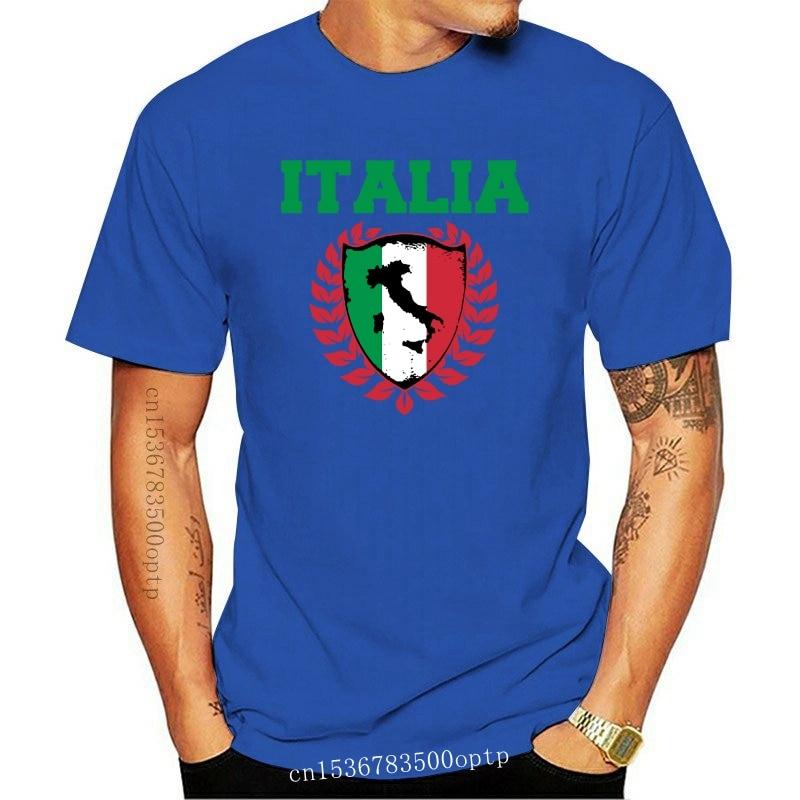 New 2021 2021 Fashion Men'S T-Shirts Short Sleeve Brand Style Short Sleeve Italy Flag Italia Tourist Boot Spots City Sites T Shi