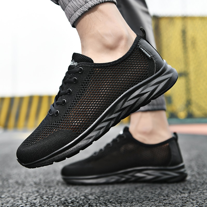 2021 New Light Casual Shoes Men Sneakers Shoes Men Loafers Walking Breathable Summer Lace Up Zapatil