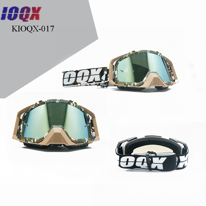ioqx Adult Motorcycle glasses Motocross goggles men women ski goggle moto mx goggles for motorbike dirt bike atv enlarge
