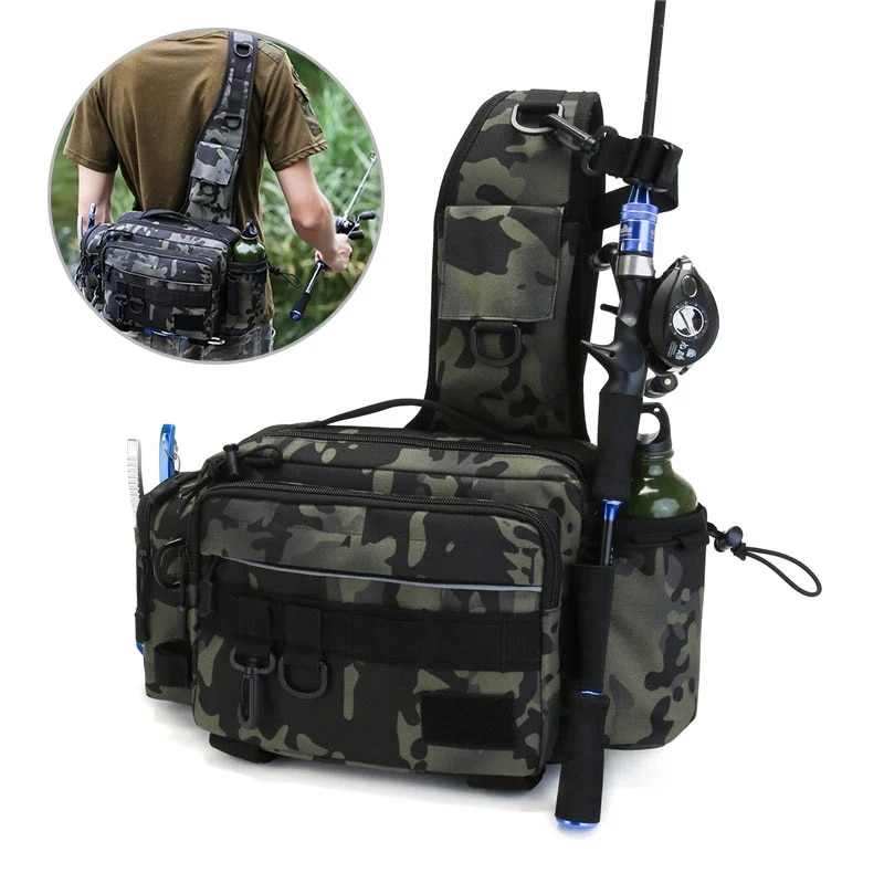 Multifunctional Tactical Fishing Shoulder Bag Army Military Backpack molle Men Waist Pack Lures Gear Storage Utility Box Bags enlarge