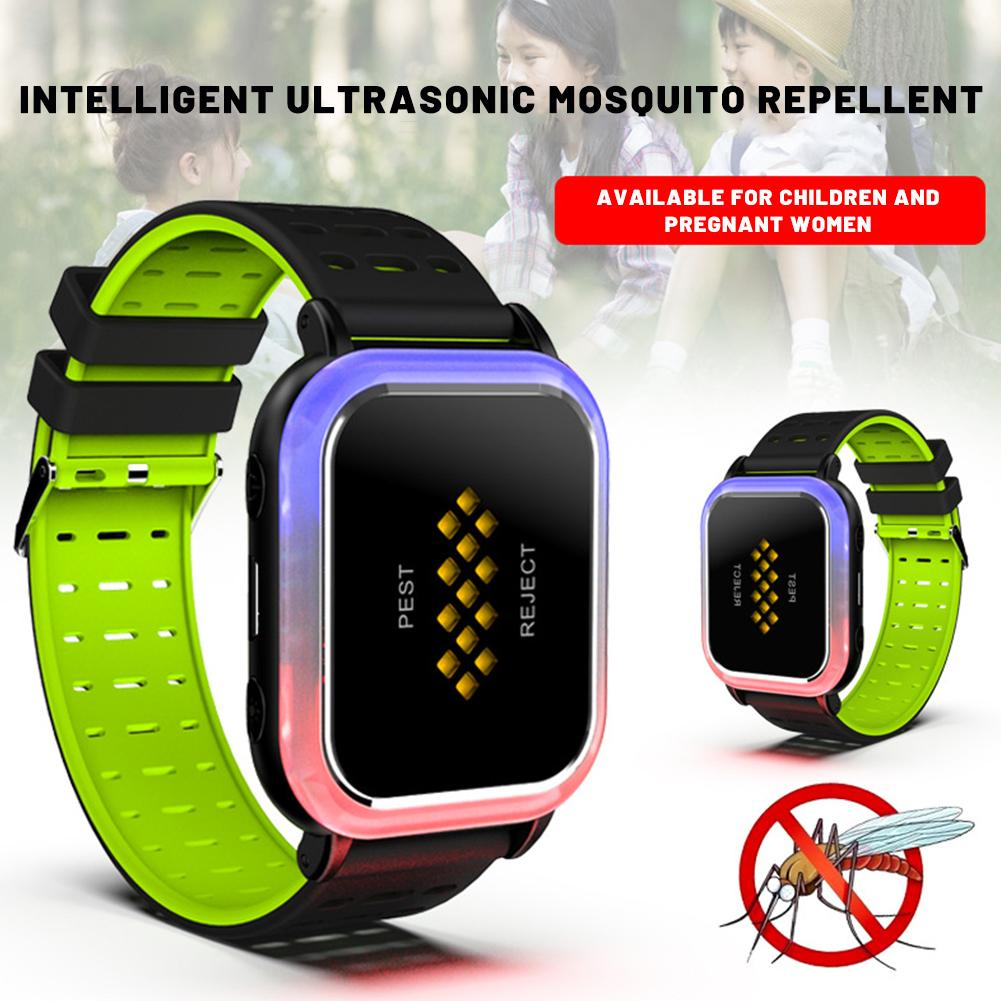 2020 New USB Charging Ultrasonic Pest Repeller Wrist Band Portable Outdoor Mosquito Repellent Bracelet for Children Adults