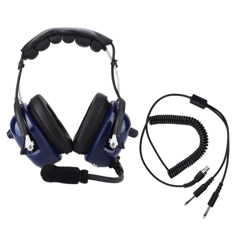 General Aviation Headset RA200 Pilot Headset Dual Plug Pilot Headphone 3.5mm Noise Reduction Headset for Pilots audifono enlarge