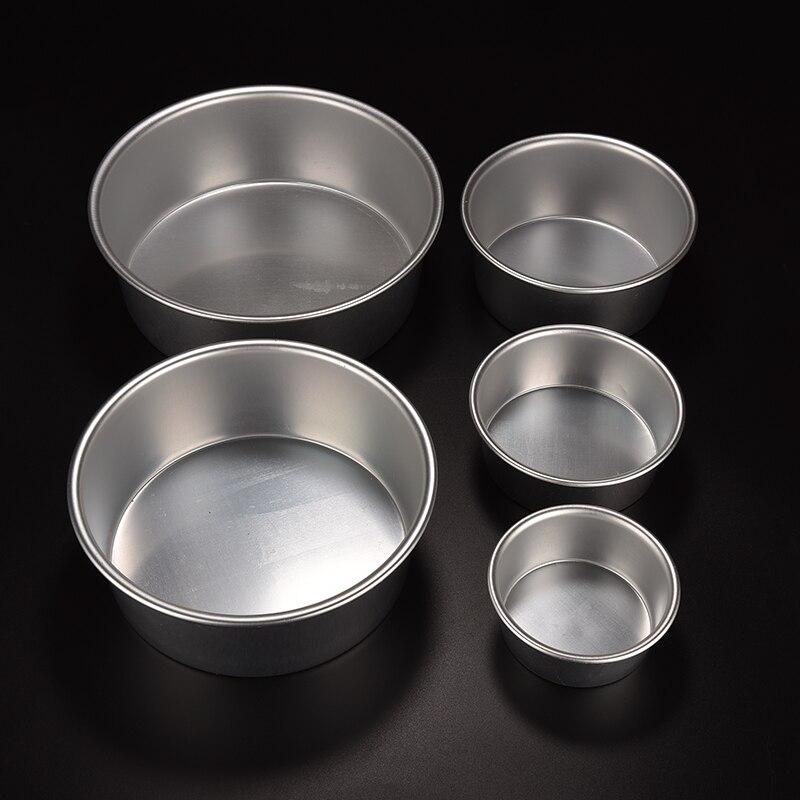 Moldes de Base de aluminio para pastel de 4/5/6/7/8/9 pulgadas, molde redondo de Metal para hornear pasteles, utensilios de cocina para horno fiesta en casa herramienta para hornear pasteles