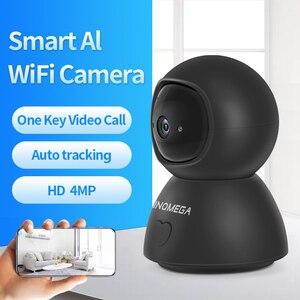 SHIWOJIA 1080P Cloud IP Camera Black Baby Monitor Auto Tracking One Key Calling WiFi Wireless Indoor camera Surveillance CCTV