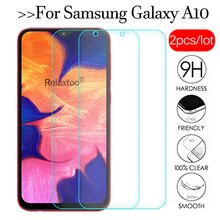 2 unids/lote vidrio templado para samsung Galaxy a10 protector de pantalla de vidrio samsun a10 a 10 a105 105F sm-a105F película protectora