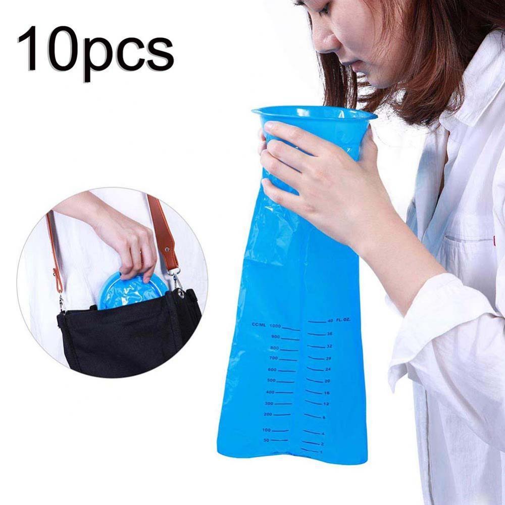 10Pcs 1000ML Unisex disposable emergency bag Portable Disposable Travel Car Airplane Motion Sickness