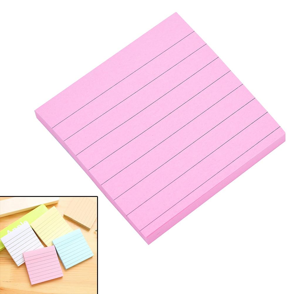 Notas adhesivas de papelería para oficina, Bloc de notas de Color sólido...