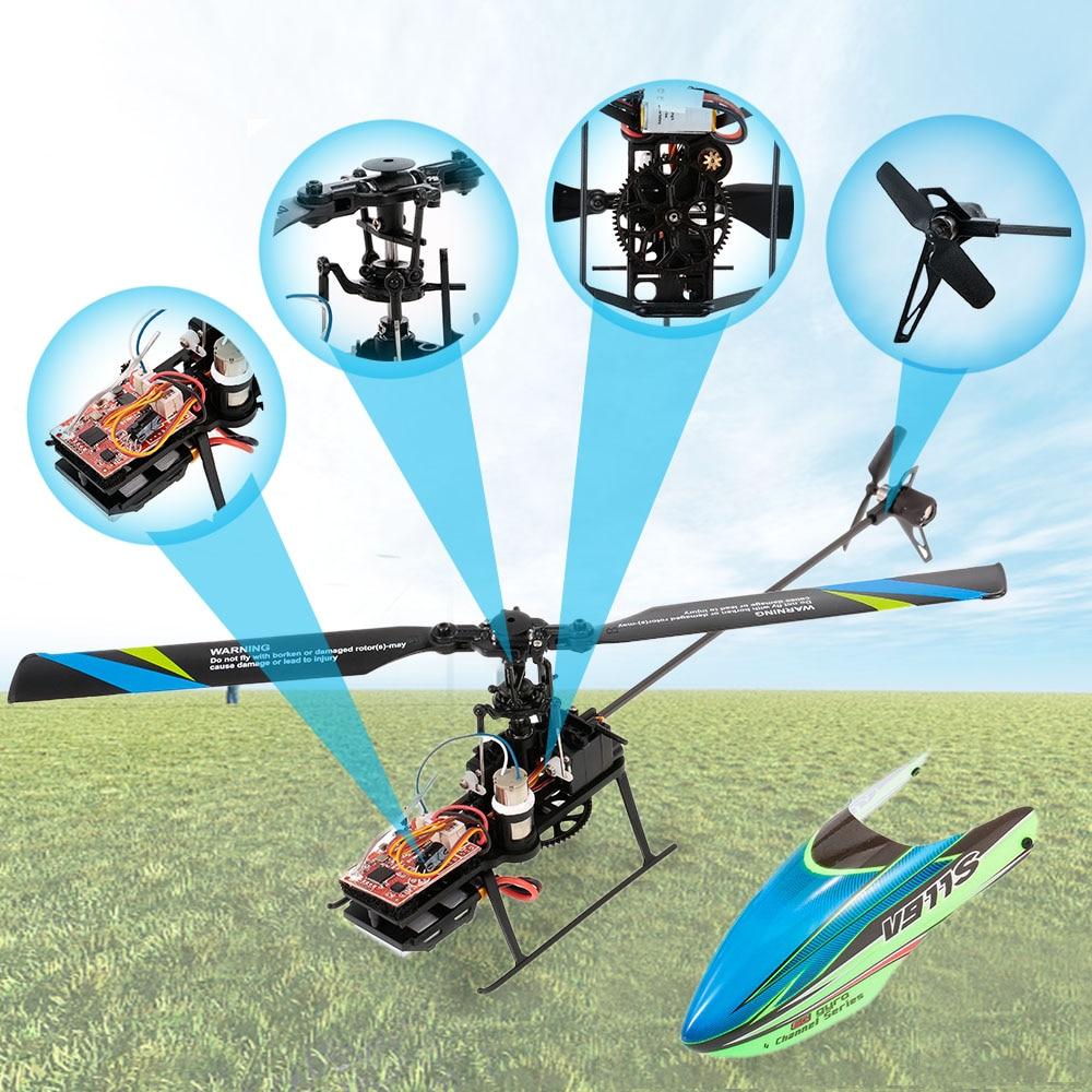 Wltoys V911S Rc Helicopter 4CH 6G 6-Aixs Gyro Enkele Propelller Non-Rolroer Rc Helicopter Rtf Speelgoed Voor Kids drie Batterij enlarge