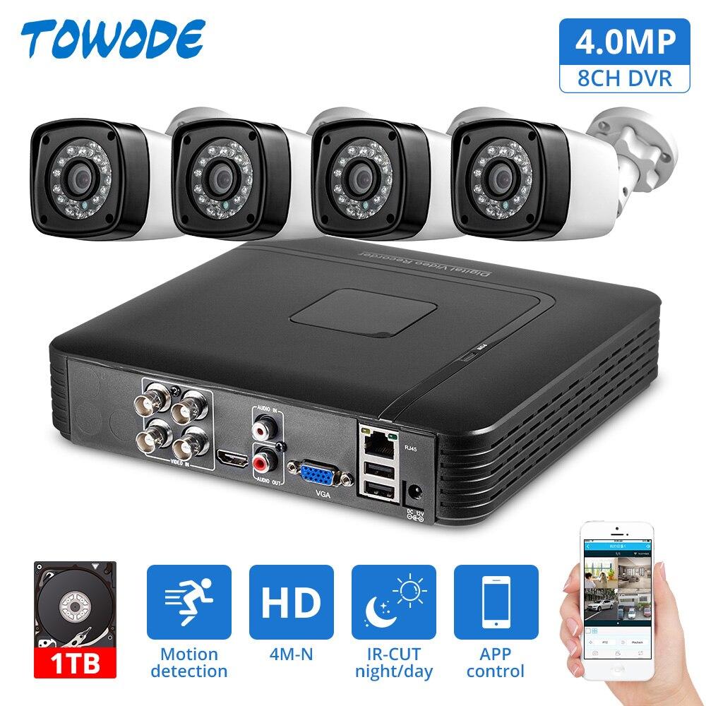 4 шт. 4MP 4CH AHD DVR CCTV камера система безопасности комплект наружная камера система видеонаблюдения ночное видение P2P HDMI 1520P