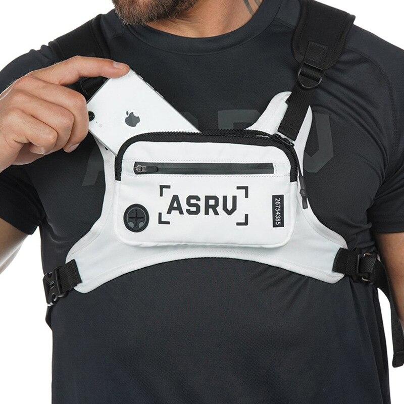 Bolsa de pecho para hombre bolsa de cintura funcional hip-hop para hombre bolsa de pecho táctico chaleco bolsas para hombre