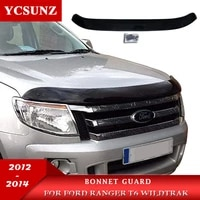abs car accessories bonnet guard hoop scoop for ford ranger t6 wildtrak 2012 2013 2014 2015 ycsunz