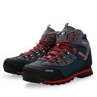 Мужские треккинговые ботинки, Водонепроницаемые кожаные ботинки для альпинизма и рыбалки, спортивные высокие кроссовки для активного отды...