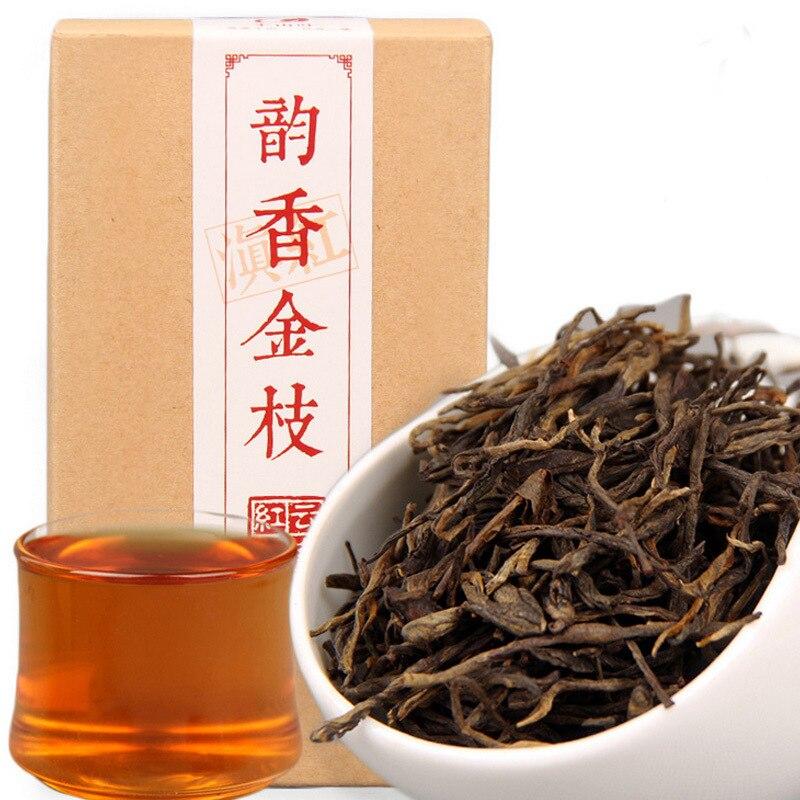 90 g/caja China Yunnan Fengqing Dian Hong aguja de pino prémium Rhyme DianHong té negro belleza adelgazante comida verde para perder peso