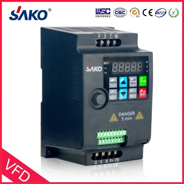 SAKO SKI780 380V 0.75KW/1.5KW/2.2KW Mini VFD Variable Frequency Inverter for Motor Speed Control Converter 6