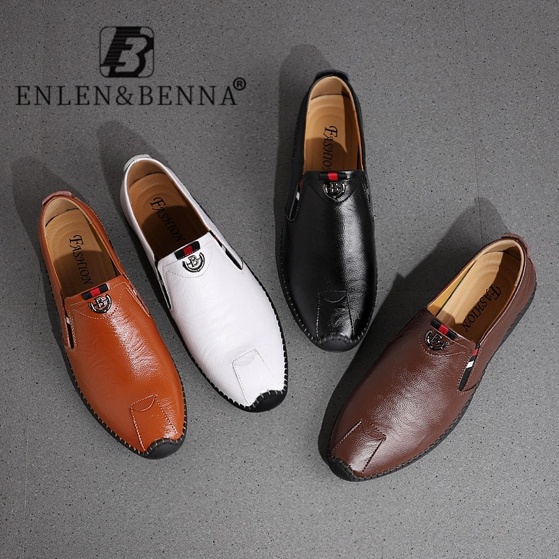 bole fall new 36 47 big size handmade causal leather men shoes fashion design slip on comfort men driving loafers shoes men flat 2021 Summer Leather Shoes Men Luxury Classic Driving Men Shoes Comfortable Casual Men Loafers Non Slip Slip on Brown Big Size 12