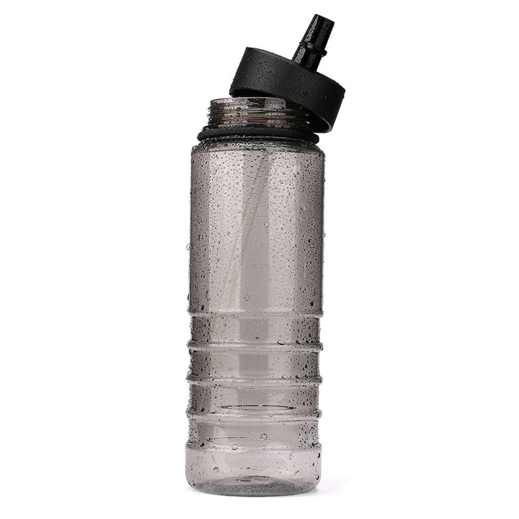 Botella de bebidas de 800ml con tapa para tour bebidas, deportes, hidratación, botella de agua con pajita para ciclismo, senderismo, viaje, bicicleta, gimnasio