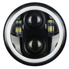 5.75 pouces LED moto phares blanc DRL ange yeux clignotant lumière pour route roi glisse Sportster 883 XL883 FXCW Triumph