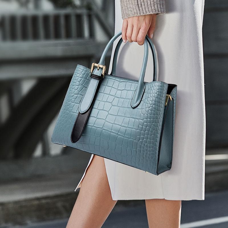 ZOOLER العلامة التجارية مصمم جلد طبيعي حقائب اليد امرأة حمل الحقائب تماما شكل الجلد حقائب كبيرة لينة جلد البقر كبير bolsos QS263