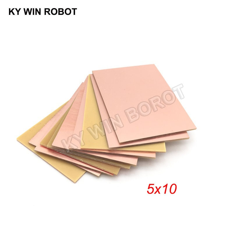 10 шт. PF PCB односторонняя медная плакированная пластина DIY PCB Kit ламинатная печатная плата 5x10 см