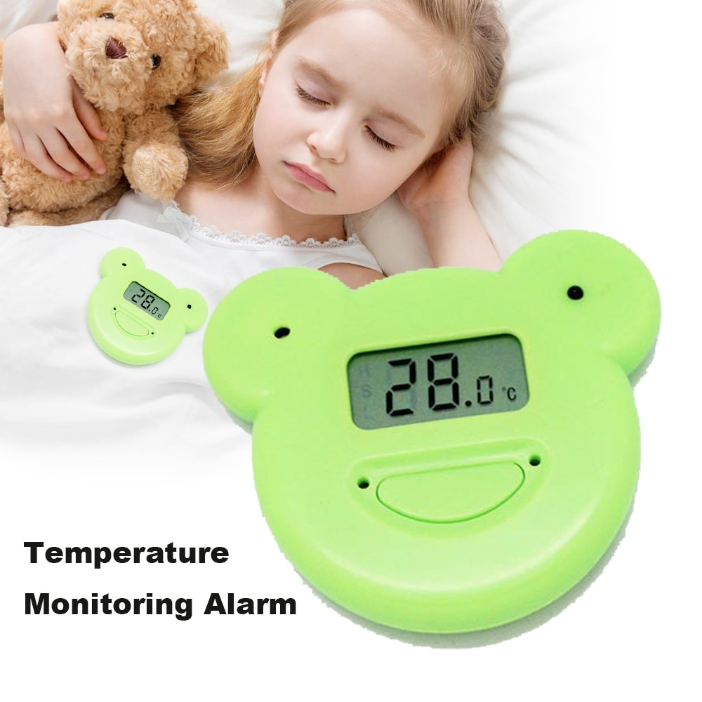 Night Baby Sleeping Monitors Mother Kids Safety Baby Monitor 24 Hours Temperature Monitoring Alarm Child Thermometer Fever Alarm