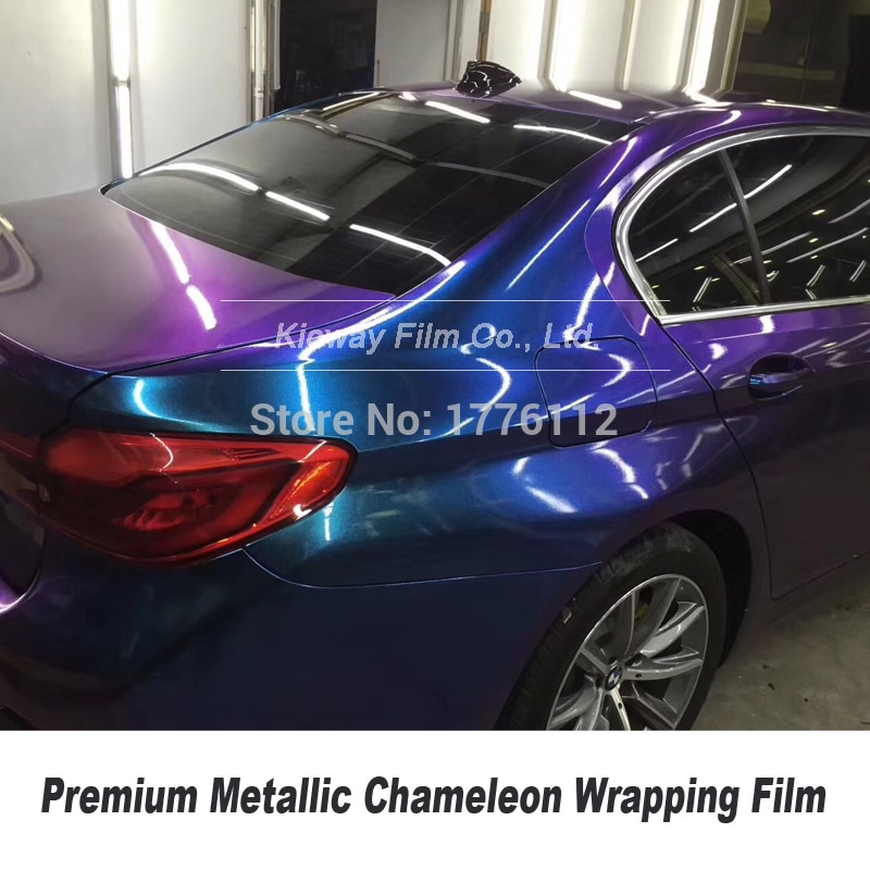 Высокое качество, жемчужный блеск, металлик, хамелеон, винил, автомобильная пленка, Стайлинг, сдвиг, сине-фиолетовая фольга, 5фт X 59фт/рулон, м...